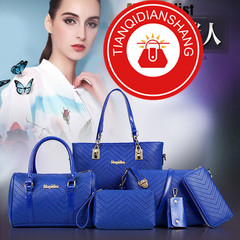TQDS 2019 explosion promotion, discount sale, affordable, six-piece, handbag blue ordinary