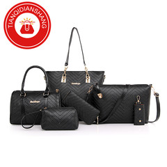 TQDS 2019 explosion promotion, discount sale, affordable, six-piece, handbag black ordinary
