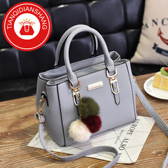 TQDS New promotions in 2019, women's jewelry handbags, shoulder bags, handbags Light gray ordinary