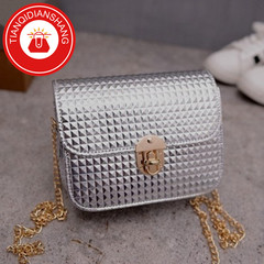 TQDS 2019 boom promotion, crazy purchase, fashion lady messenger bag, chain shoulder bag light gray ordinary