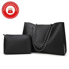TQDS crazy promotion, European and American high-quality big bags, large capacity, fashion handbags, black general