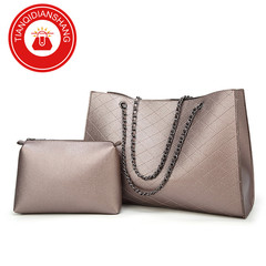 TQDS crazy promotion, European and American high-quality big bags, large capacity, fashion handbags, grey general
