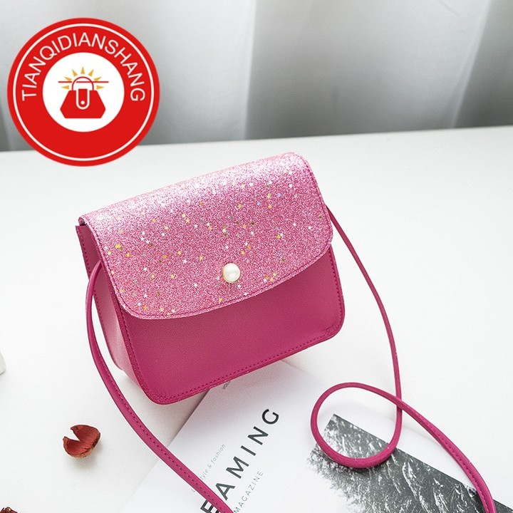 2019 explosion promotion, affordable, exquisite pouch, one shoulder slung pouch pink ordinary tianqidianshang pu 3