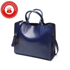 TQDS New promotions in 2019, limited to 20, fashionable handbags, sloping shoulder bags blue ordinary