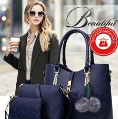 New product promotions in 2019, price reduction limit 10, three-piece handbags blue ordinary