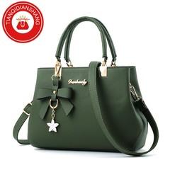 TQDS 2019 elegant shoulder, luxurious, plum bow, sweet messenger messenger bag green ordinary