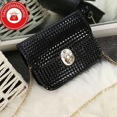 TQDS 2019 boom promotion, crazy purchase, fashion lady messenger bag, chain shoulder bag black general