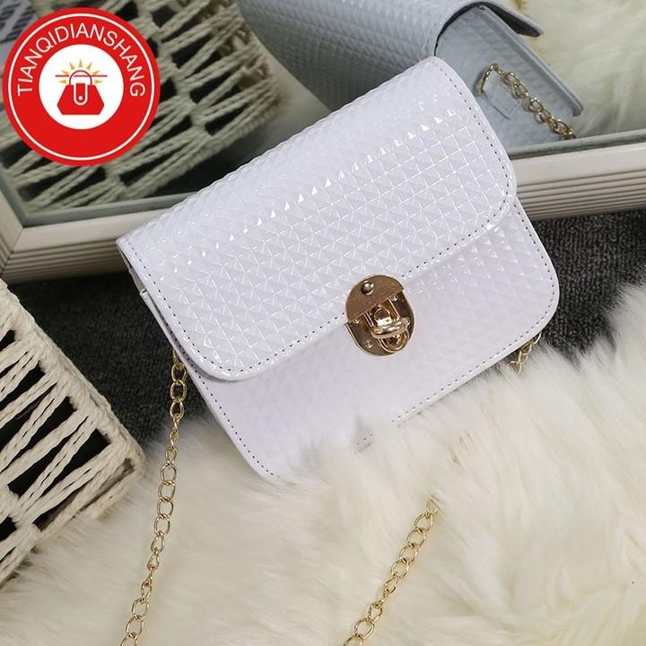 TQDS 2019 hot sale, Pu patent leather, one shoulder, crossbody, high quality lady handbag pink general 2