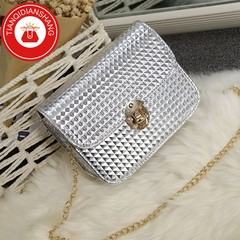 TQDS 2019 boom promotion, crazy purchase, fashion lady messenger bag, chain shoulder bag silver white general