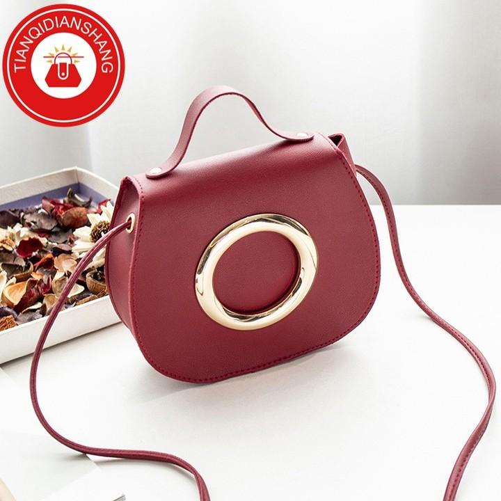 TQDS 2019 hot sale, Pu patent leather, one shoulder, crossbody, high quality lady handbag pink general 4