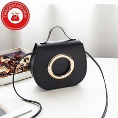 TQDS 2019 new product promotion, low price crazy purchase, one shoulder oblique handbag black general