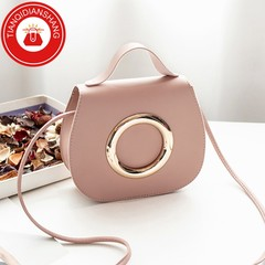 TQDS 2019 new product promotion, low price crazy purchase, one shoulder oblique handbag pink general