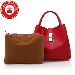 TQDS 2019 hot sale, Pu patent leather, one shoulder, crossbody, high quality lady handbag red general