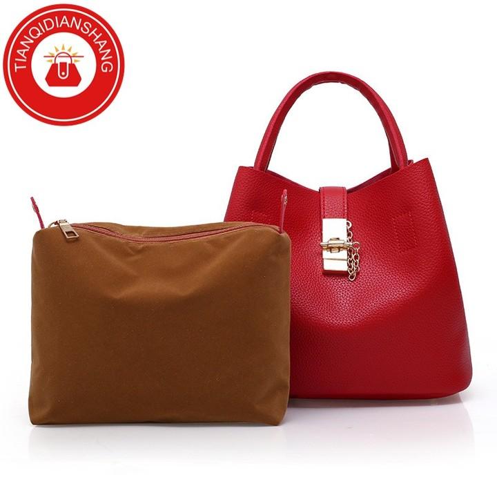 TQDS 2019 hot sale, Pu patent leather, one shoulder, crossbody, high quality lady handbag pink general 5