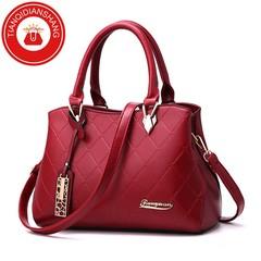 TQDS New Promotional Women's Bag in 2019, Limited Buy, Single Shoulder Skew Bag red general