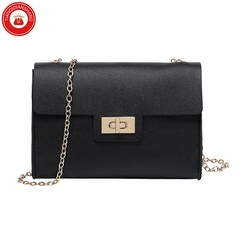 TQDS 2019 Fashion Casual Europe and America Small Square Bag Chain Shoulder Strap Crossbody Bag black ordinary