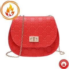 THDS 2019 New Small Tote Bag Crossbody Handbag Chain Diamond Plaid Sling Bag Mobile Wallet red ordinary