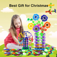 Snowflake building blocks Plastic Insert Toys 180 Piece for kids boys girls Christmas gift present Multicolor 2 packs