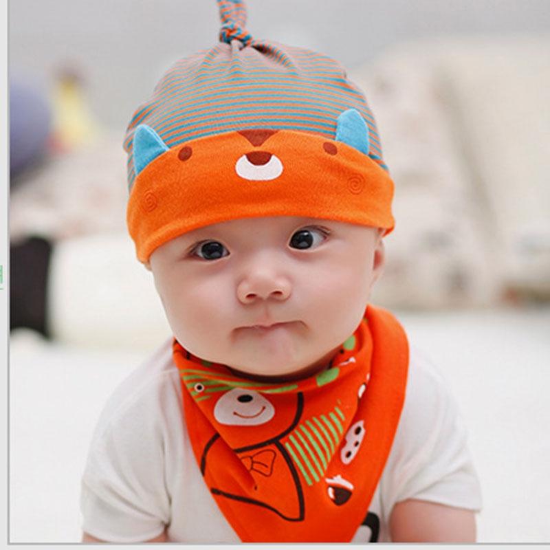 02de70c29a6 0-36Months Baby Caps With Bibs Newborn Hats For Girls Boys Children ...