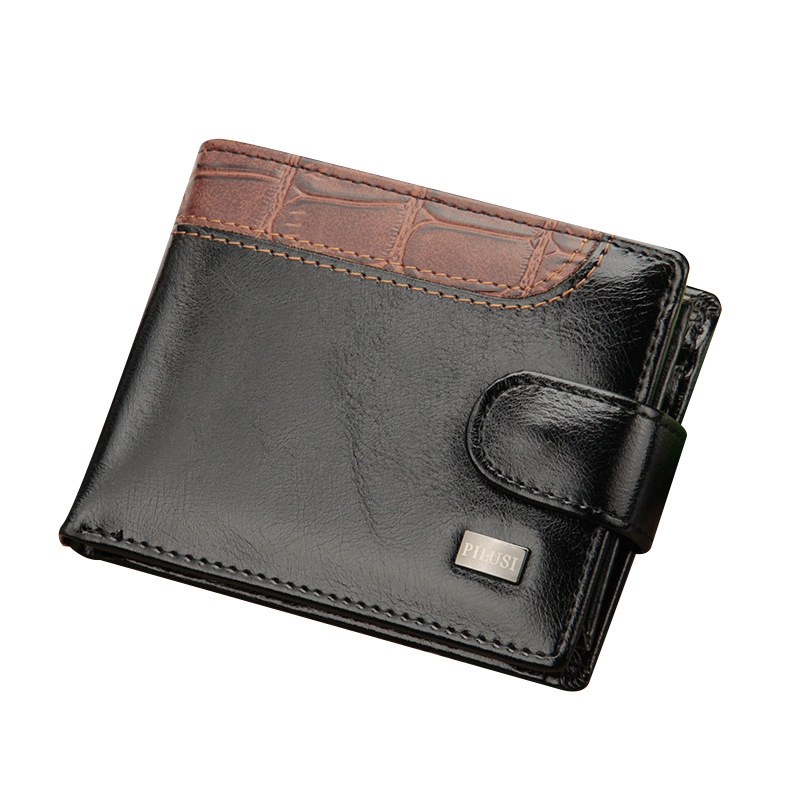 734bf298ce57 ... Leather Small Wallet Coin Pocket Purse Card Holder Men Wallets Money  Male Clutch black one size: Product No: 10803698. Item specifics: Brand: