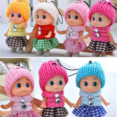 2019 hot sale Kids Toys Soft Baby Dolls Mini For girls boys Kindergarten Gift Cute Phone Accessory 10pcs randomly 8cm