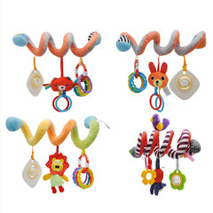 KL Baby Toys Bell Ring Infant Bedtime Bear Pendant Dolls bed wraps around Brain Game Hanging Toy type5 21*10cm