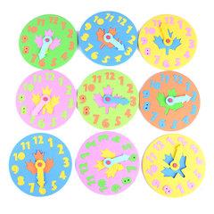 KL 5 Pieces Kids DIY Eva Clock Learning Education Boys Girl Toys Fun Jigsaw Puzzle Game for Children multicolor 5pcs randomly