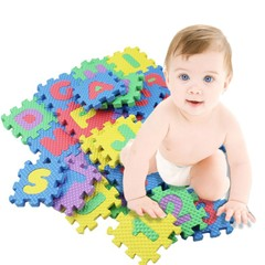 KL Baby Toys 36pcs/set Kids Child Baby Infant Mini Maths Educational Puzzle Alphabet Letter boy girl multicolor 36pcs one pack