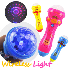 2019 Hot Sale Funny Lighting Wireless Microphone Model Gift Music Karaoke Kids Children Mini Toys Muiti Color 3pcs lights