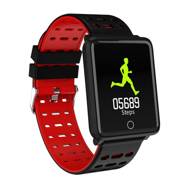 "F3 Smart Bracelet 1.44"" Color Screen Heart Rate Blood Pressure Monitor GPS Track IP68 Waterproof Red normal"
