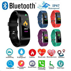 ID115PLUS Smart Band Wristband Fitness Bracelet Heart Rate Tracker Blood Pressure Monitor for Xiaomi Red normal
