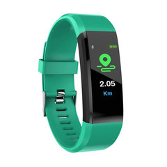 ID115PLUS Smart Band Wristband Fitness Bracelet Heart Rate Tracker Blood Pressure Monitor for Xiaomi Green normal