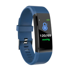 ID115PLUS Smart Band Wristband Fitness Bracelet Heart Rate Tracker Blood Pressure Monitor for Xiaomi Blue normal