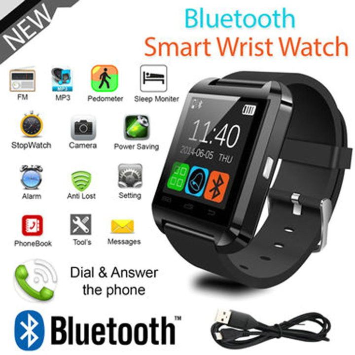Smart Watch Clock Sync Notifier Support Bluetooth Connectivity For Android  Smartwatch red