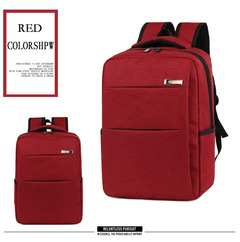 2018 Square Laptop Female Student Bag Men's Business Casual Travel Bckpack red one size