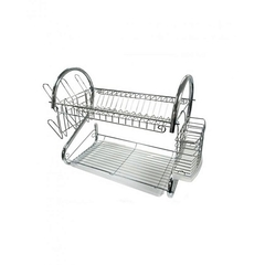 2 layer dish rack stainless silver 1metres
