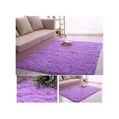 Fluffy Smooth Carpet - Purple purple 5m by 8m