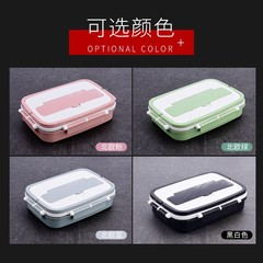 New 304 Stainless Steel Portable lunch box sealed leakproof doubledeck antiscalding lunch box studen