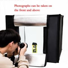 Light Box Portable Photo Studio Shooting Tent Foldable Table top Mini LED lighting black as show