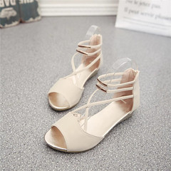 RIVER'S fashion   sandals Shoes  footwear sandals Women's summer shoes Gladiator Casual Ladies Shoes white 35