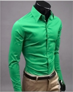 AFS New Men's Shirt DRESS ON SALE ACCTRATIVE PRICE Bright Green S