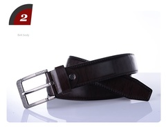 AFS BRAND High quality men's genuine leather belt luxury strap male belts pin buckle 105-125cm black 105-125cm
