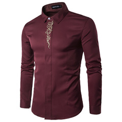 AFS Men Luxury Shirts ON PROMOTION FOR NEW CUSTOMERS ONLY Red l