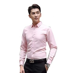 AFS 2019 Men's Shirt Explosive Price On Sale with High Quality Long Sleeves Shirts Pink s