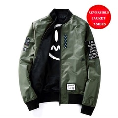 AFS MENS CASUAL JACKET 2019 REVERSIBLE JACKET 2 SIDES FOR WEAR Army Green m