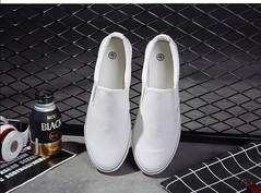 AFS Fashion Men's Canvas Shoes Men's Shoes Foot Lazy Shoes White 39
