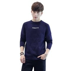 AFS AUTUMN AND WINTER NEW STYLE MEN'S SWEATER CREW NECK Navy Blue m
