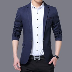 AFS NEW MEN'S JACKET SUIT FORMAL DRESS GOOD QUALITY AND HANDSOME NAVY BLUE m