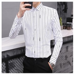 AFS LATEST MEN'S MENS STRIPED SHIRT FORMAL AND CASUAL GOOD QUALITY AND PRICE FOR PROMOTION ONLY WHITE 39