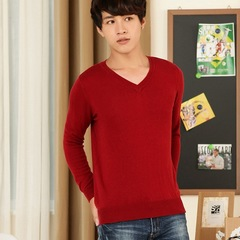 AFS PULLOVER V-NECK MULTI-COLOR NEW MEN'S KNITTED -SWEATER COMFORTABLE CASUAL MENS SHIRT-FREE RED s